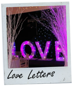 Hire Giant Love Letters in Glasgow